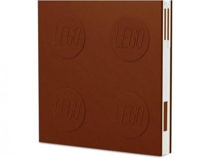 LEGO 2.0 zápisník s gelovým perem hnědý