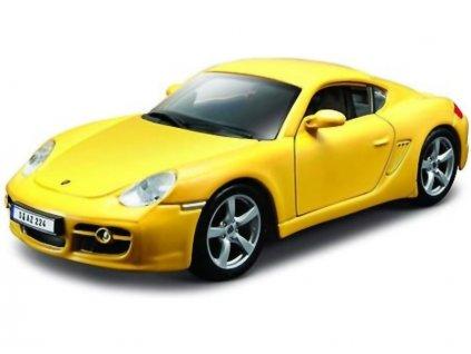 Bburago Porsche Cayman S 1:32 žlutá