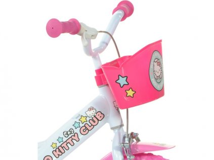 """DINO Bikes - Dětské kolo 12"""" Hello Kitty2 se sedačkou"""