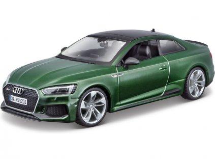 Bburago Audi RS 5 Coupe 1:24 zelená metalíza