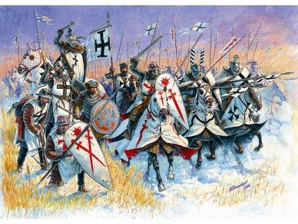 Zvezda figurky Livonian Knights XIII-XIV A. D. (1:72)