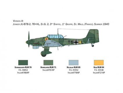Italeri Junkers Ju-87B Stuka - bitva o Británii 80. výročí (1:48)