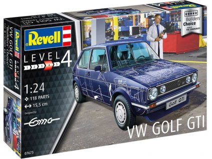 Revell Volkswagen Golf Gti Builders Choice (1:24)