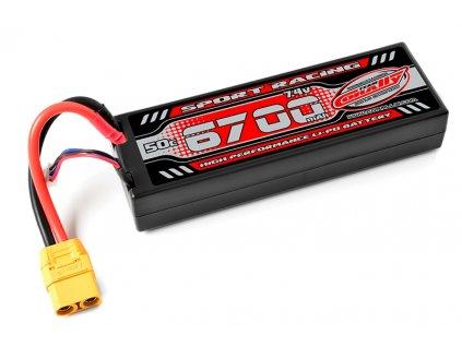 TEAM CORALLY SPORT RACING LIPOL 6700mAh 50C 7.4V