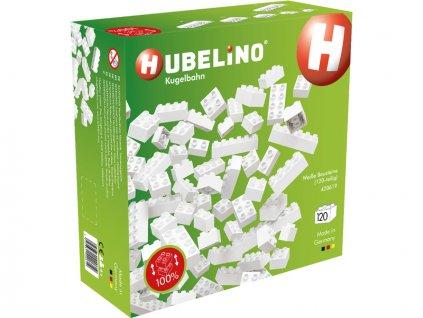 HUBELINO Kuličková dráha - kostky bílé 120 dílků