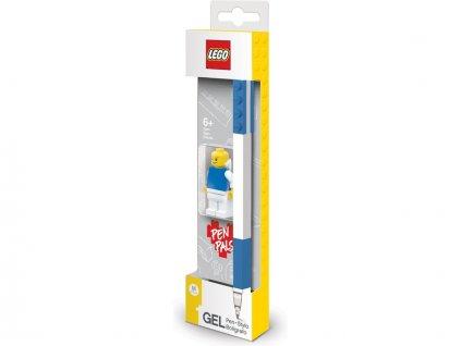 LEGO Gelové pero s minifigurkou modré
