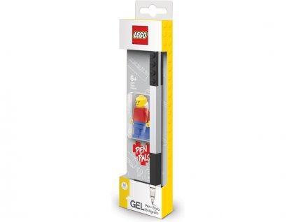 LEGO Gelové pero s minifigurkou černé