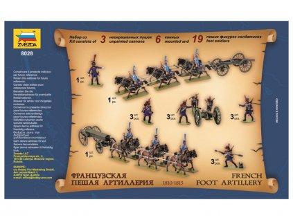 Zvezda figurky French Foot Artillery 1812-1814 (1:72)