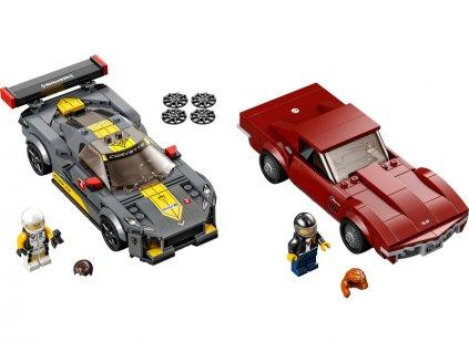 LEGO Speed Champions - Chevrolet Corvette C8.R a 1968 Chevrolet Corvette