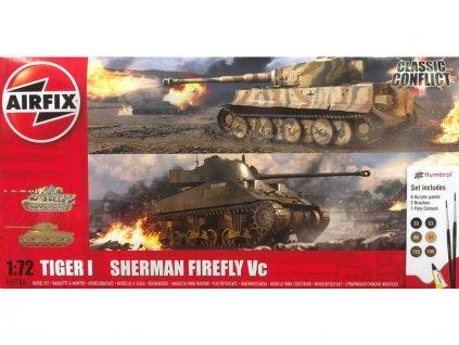 Airfix Tiger 1, Sherman Firefly (1:72) (Giftset)