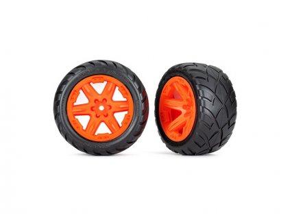"""Traxxas kolo 2.8"""", disk RTX oranžový, pneu Anaconda (4WD přední/zadní, 2WD přední) (2)"""