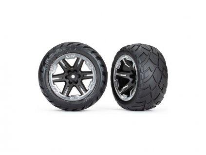 """Traxxas kolo 2.8"""", disk RTX černý-chrom, pneu Anaconda (4WD přední/zadní, 2WD přední) (2)"""