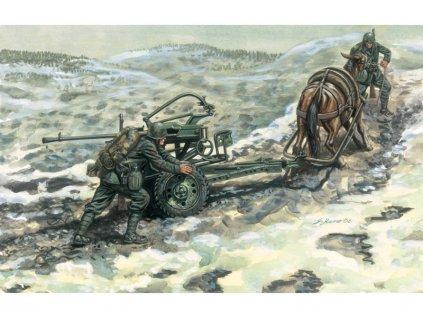 Italeri HORSE DRAWN BREDA 20/65 W/SERVANTS (1:35)