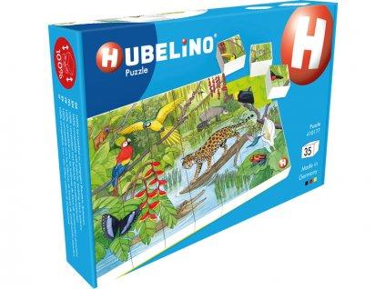 HUBELINO Puzzle - Zvířata v pralese