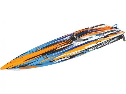 Traxxas Spartan TQi RTR oranžový - výprodej