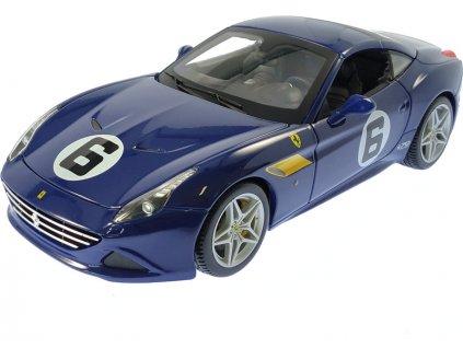 Bburago 70th Anniversary Collection Ferrari California T 1:18 #6 modrá