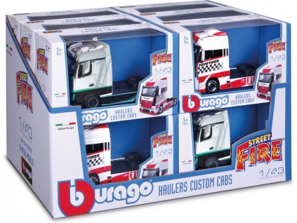 Bburago kamion bez návěsu (sada 12ks)