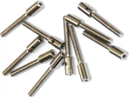 Závitová koncovka pájecí M2 na drát 1 mm (10ks)