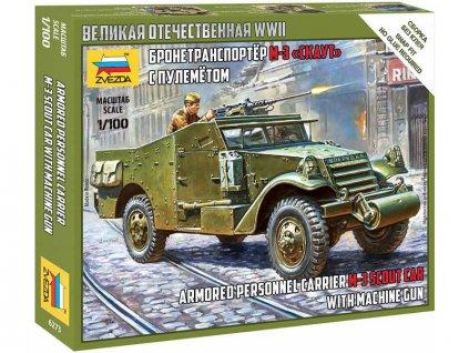 Zvezda Soviet M-3 Scout Car with Machine Gun (1:100)