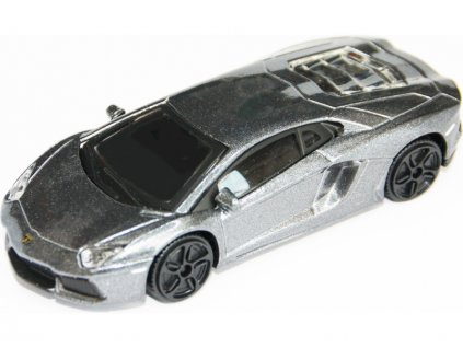 Bburago Lamborghini Aventador LP 700-4 1:43 šedá metalíza