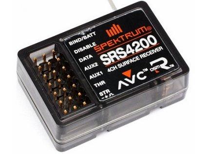 PŘÍJMAČ SPECTRUM DSMR SRS4200 AVC 2.4GHz 4CH (voděodolný)