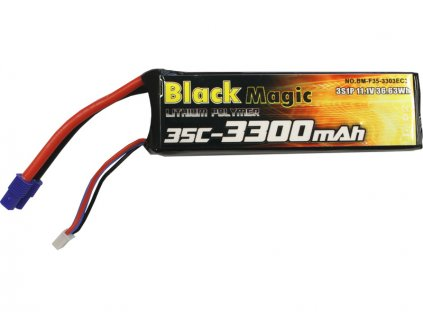 LiPol Black Magic 11.1V 3300mAh 35C EC3 350 QX3