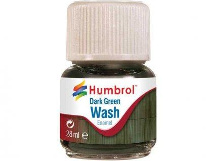 Humbrol barva Enamel AV0203 Wash tmavě zelená 28ml
