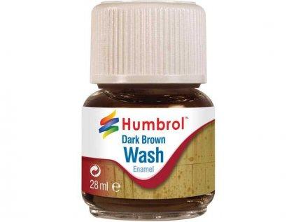 Humbrol barva Enamel AV0205 Wash tmavě hnědá 28ml
