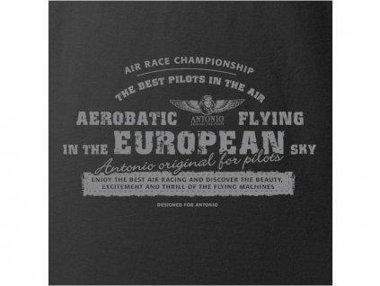 Antonio Live & Fly - Tričko Aerobatica černé M