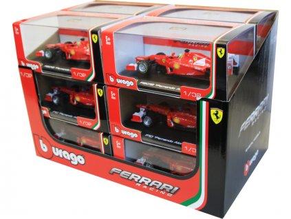 Bburago 1:32 Race Ferrari Scuderia sada 12ks