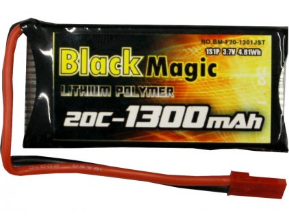 LiPol Black Magic 3.7V 1300mAh 20C JST