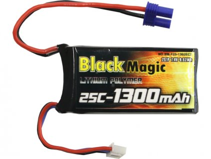 LiPol Black Magic 7.4V 1300m Ah 25C EC3