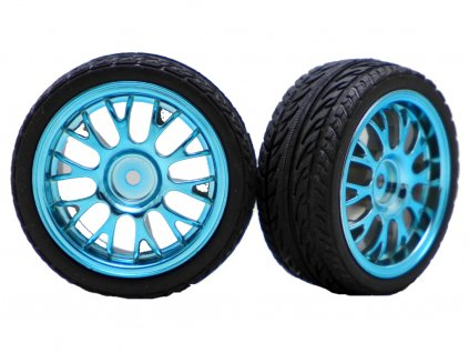 ON ROAD BBS BLUE RIMS 1:10 (2ks)