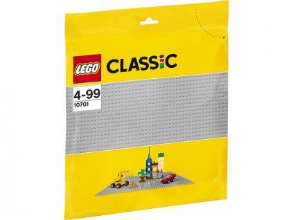 LEGO Classic - Šedá podložka na stavění