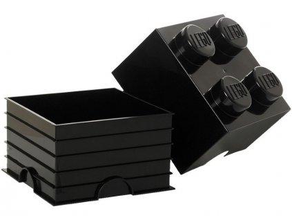 LEGO úložný box 250x250x180mm - azurový