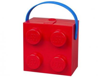 LEGO box s rukojetí 166x165x117mm - červený