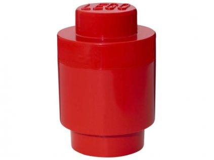 LEGO úložný box kulatý 123x183mm - červený