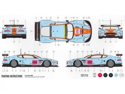 Starter Set auto Aston Martin DBR9 Gulf 1:32