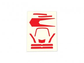 Aton: Samolepky červené