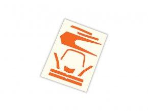 Aton: Samolepky oranžové