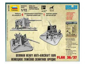 Zvezda Easy Kit German 88mm Flak 36/37 (1:72)