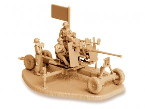 Zvezda Easy Kit British Bofors 40mm Mk-2 AA-Gun (1:72)