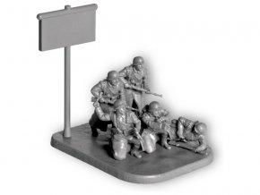 Zvezda figurky - německá pěchota (zimní uniforma) (1:72)