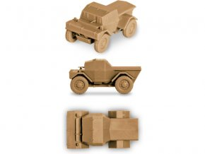 Zvezda Easy Kit British Armored Car Dingo (1:100)