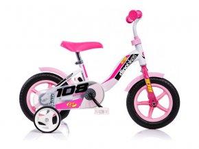 "DINO Bikes - Dětské kolo 10"" růžové"