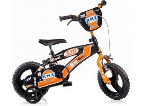 """DINO Bikes - Dětské kolo 12"""" BMX černé"""