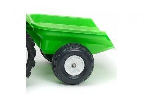 FALK - Šlapací traktor Garden master zelený s vlečkou