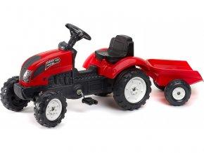FALK - Šlapací traktor Garden master červený s vlečkou