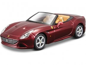 Bburago 1:43 Sign. Ferrari California T (open top) metalická červená