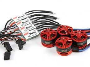 DYS BRUSHLESS DRONE COMBO: DYS MOTOR BE1806 2300KV + DYS ESC 16A (4ks)
